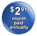 monthly hosting fee badge